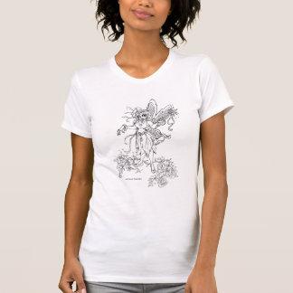 """私の芸術のTシャツを着色して下さい! """"庭妖精""""の! Tシャツ"""
