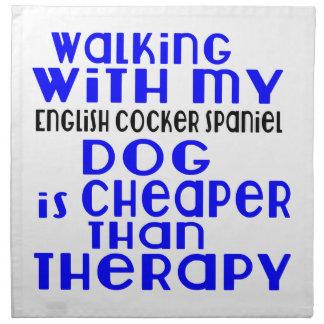 私の英国のコッカースパニエル犬のデザインと歩くこと ナプキンクロス