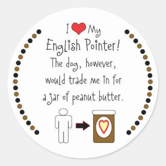 私の英国のポインターはピーナッツバターを愛します ラウンドシール