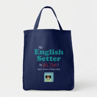 私の英国セッターはすべてそれです! トートバッグ