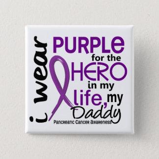 私の英雄のための膵臓癌私のお父さん2 5.1CM 正方形バッジ