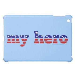 私の英雄の星条旗の愛国心が強い赤白青 iPad MINIカバー