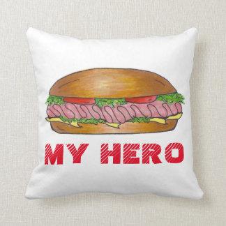 私の英雄の海底サンドイッチ粉砕機のHoagieの枕 クッション