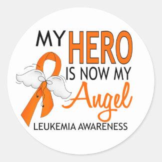 私の英雄は私の天使の白血病です ラウンドシール