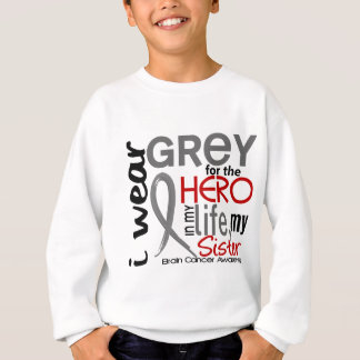 私の英雄2の姉妹の脳腫瘍のための灰色 スウェットシャツ