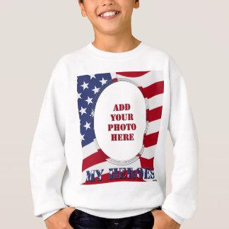私の英雄-あなたの写真を加えて下さい スウェットシャツ