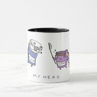 私の英雄、コーヒー|おもしろいな喜劇的なコーヒー・マグ マグカップ