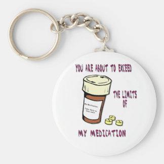 私の薬物の限界を超過することを約あります キーホルダー