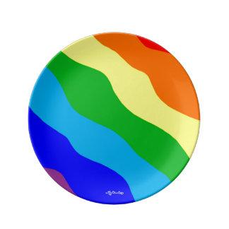 私の虹8.5のプレート 磁器プレート