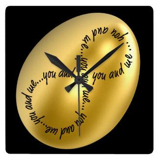 私の蜂蜜および宝物シックな柱時計です! スクエア壁時計