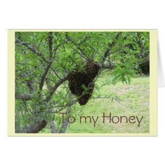 私の蜂蜜に カード