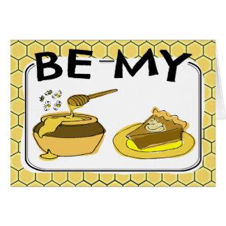 私の蜂蜜パイバレンタインがあって下さい カード