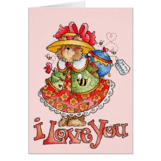 私の蜂蜜-バレンタインカード--があって下さい カード