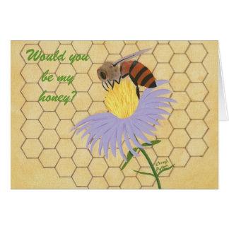 私の蜂蜜、蜂の求婚カードです カード
