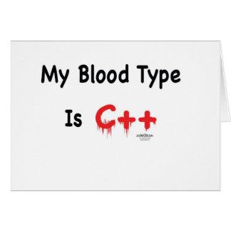 私の血液型はcです++ カード