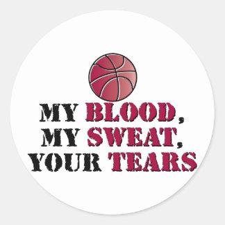 私の血、私の汗、あなたの破損-バスケットボール ラウンドシール