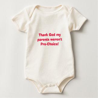 私の親によってが妊娠中絶に賛成ではなかった神を感謝していして下さい! ベビーボディスーツ