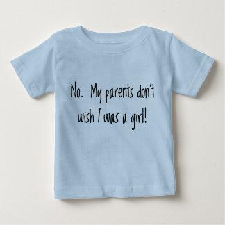 私の親は私が女の子だったことを望みません ベビーTシャツ