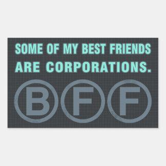 私の親友の何人か株式会社です 長方形シール