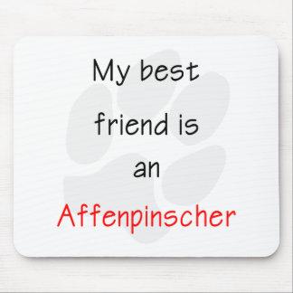 私の親友はアーフェンピンシャーです マウスパッド