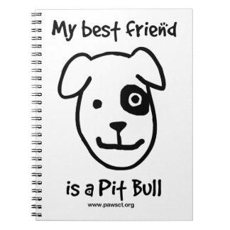 私の親友はピット・ブルです ノートブック