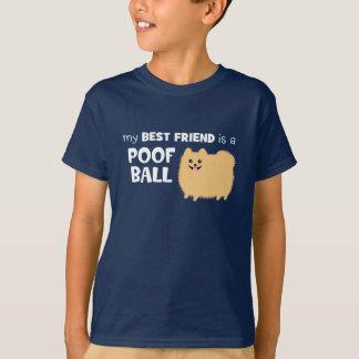 私の親友はホモの球-かわいいポメラニア犬です Tシャツ