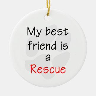私の親友は救助犬です セラミックオーナメント