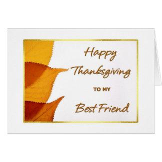 私の親友カードへの幸せな感謝祭 カード