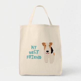 私の親友ワイヤーフォックステリア犬 トートバッグ
