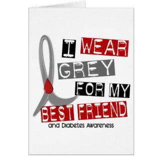 私の親友43のための糖尿病Iの衣服の灰色 カード