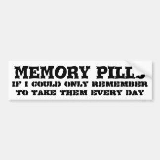 私の記憶丸薬を忘れることを保って下さい バンパーステッカー