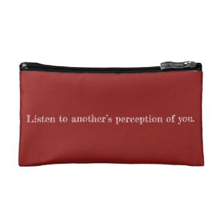 私の認識の引用文の化粧品のバッグ コスメティックバッグ