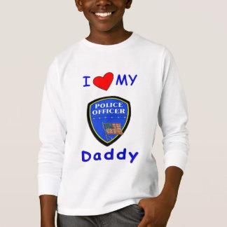 私の警察のお父さんを愛して下さい Tシャツ