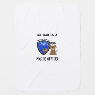 私の警察のパパ ベビー ブランケット