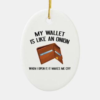 私の財布はタマネギのようです セラミックオーナメント