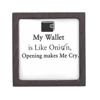 私の財布は開いているタマネギのよう叫ばせます私をです。 ギフトボックス