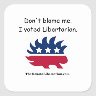 私の責任にしないで下さい。 私は自由意志論者を投票しました スクエアシール