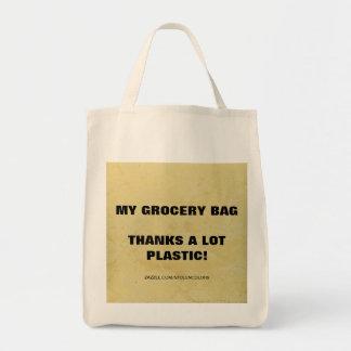 私の買い物袋-プラスチック感謝たくさん! トートバッグ