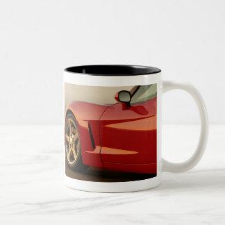 私の赤いコルベット ツートーンマグカップ