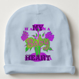 私の赤ん坊のハートのHakuna Matataのウサギの肋骨の乳児の帽子 ベビービーニー