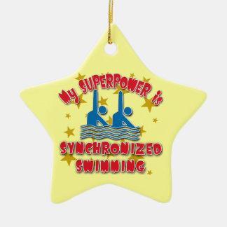 私の超出力はシンクロナイズドスイミングです セラミックオーナメント