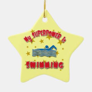 私の超出力は泳いでいます セラミックオーナメント