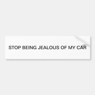 私の車の嫉妬深いがあることをストップ バンパーステッカー
