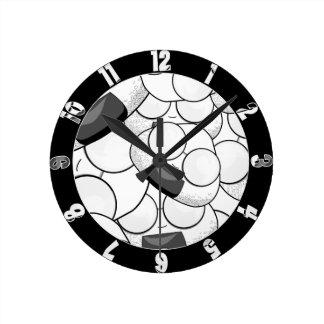 私の近くの滞在-おたく ラウンド壁時計
