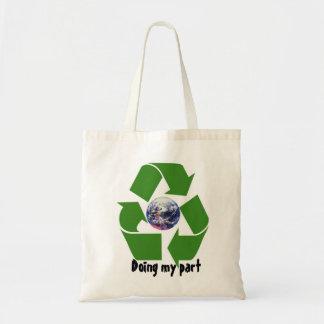 私の部分をリサイクルするためにすること トートバッグ