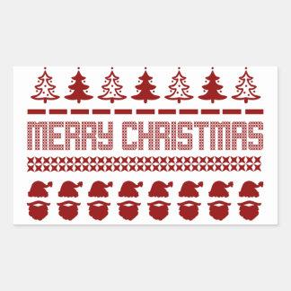 私の醜いクリスマスのセーター 長方形シール