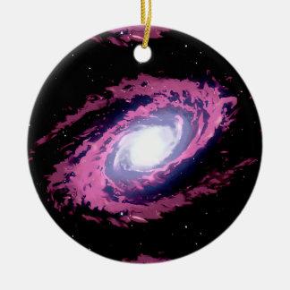 私の銀河系、美しい星雲の水彩画のアートワークがあって下さい セラミックオーナメント