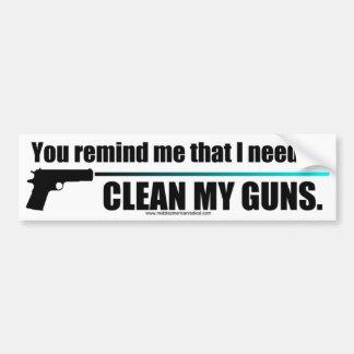私の銃をきれいにして下さい バンパーステッカー