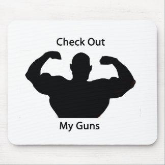 私の銃を点検して下さい マウスパッド