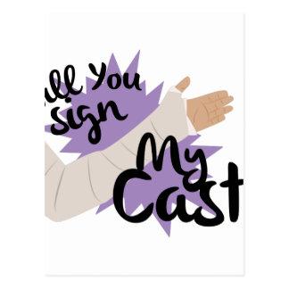 私の鋳造物に署名して下さい ポストカード
